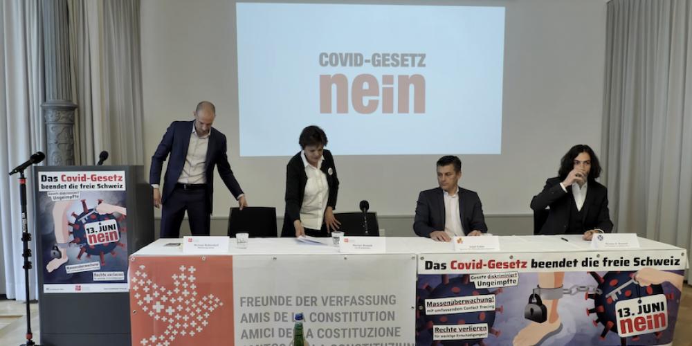 Conférence de presse des Amis de la Constitution (Suisse) du 15 avril 2021