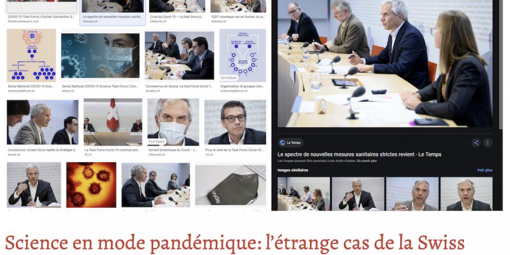 Science en mode pandémique: l'étrange cas de la Swiss National COVID-19 Science Task Force