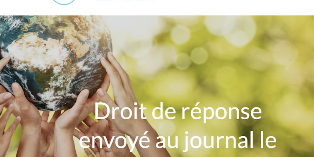 Droit de réponse de Réinfocovid suisse au journal Le Temps