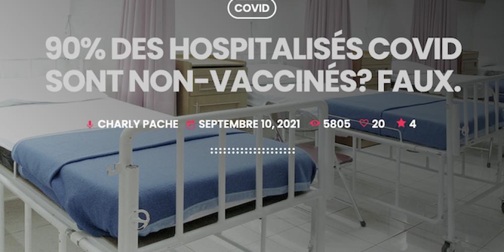 Suisse: 90% des hospitalisés Covid sont non-vaccinés? Faux.